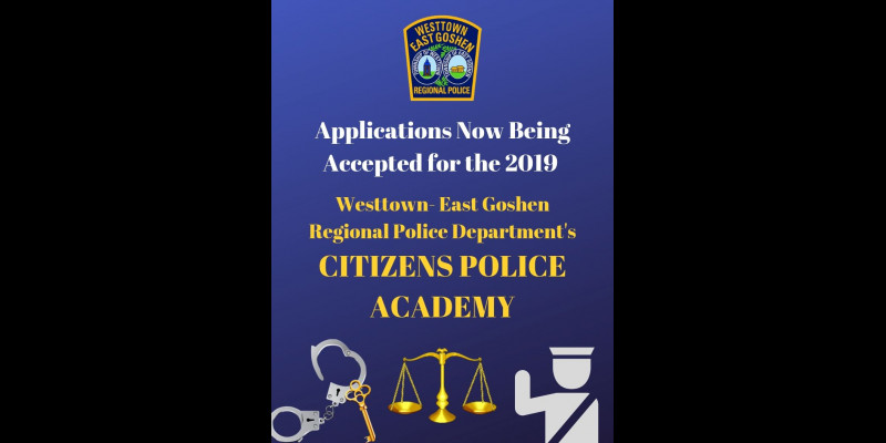 Image for APPLICATIONS NOW BEING ACCEPTED FOR THE 2019 CITIZENS POLICE ACADEMY