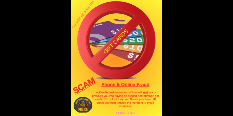Image for Gift card fraud continues - do not become a victim
